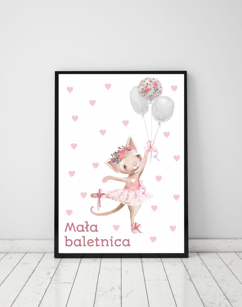 Plakat Na ścianę Baletnica Balonikikropki